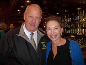 Freeport Mayor and NCVOA Immediate Past President Bob Kennedy with Old Westbury Trustee Leslie Fastenberg