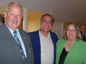 Freeport Mayor and NCVOA President Bob Kennedy, Saddle Rock Mayor Dr. Dan Levy, and Great Neck Plaza Trustee Pam Marksheid