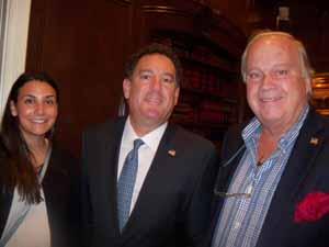 Friends of the NCVOA Erica Peritore, Brookville Mayor Dan Serota, and Centre Island Mayor Larry Schmidlapp