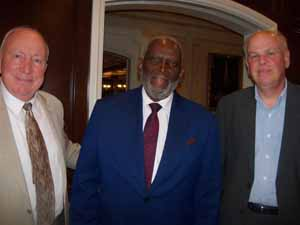 Hempstead Mayor Don Ryan and Deputy Mayor Charles Renfroe with Town of Hempstead's Bert Patterson