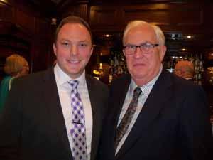 Munistat AVP Tom Cartwright, Friends of the NCVOA, with Oyster Bay Cove Deputy Mayor Richard MacDougall