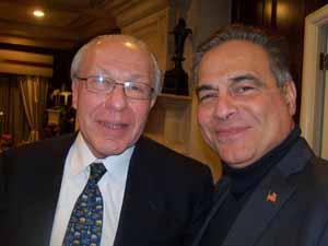 NCVOA Counsel Gary Fishberg and Saddle Rock Mayor Dr. Dan Levy
