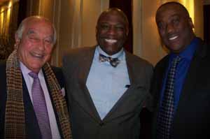 NCVOA Past President and North Hills Mayor Marvin Natiss with South Floral Park Mayor Geoffrey Prime and Deputy Mayor Gary McCollin