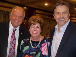 North Hills Deputy Mayor Dennis Sgambati, Baxter Estates Mayor Nora Haagenson, and Flower Hill Trustee Frank Genese