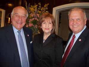North Hills Mayor and NCVOA Past President Marvin Natiss with Trustee Phyllis Lentini and Deputy Mayor Dennis Sgambati