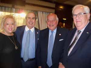 North Hills Trustees Gail Cohen and Elliott Arnold, Mayor Marvin Natiss, and Oyster Bay Cove Deputy Mayor Richard MacDougall