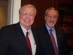 Old Brookville Mayor and NCVOA Past President Bernie Ryba with NCVOA Executive Director Ralph Kreitzman