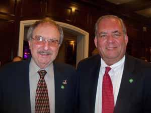 Plandome Heights Trustee Al Solomon with Mayor Ken Riscica