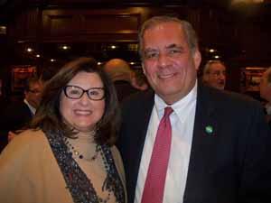 Plandome Manor Mayor and NCVOA Past President Barbara Donno and Plandome Heights Mayor Ken Riscica