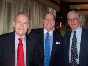 Plandome Trustee Don Richardson, Deputy Mayor Ray Herbert, and Trustee Andrew Bartels