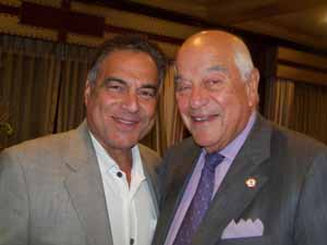 Saddle Rock Mayor Dr. Dan Levy with North Hills Mayor and NCVOA Past President Marvin Natiss