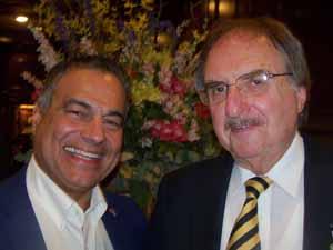 Saddle Rock Mayor Dr. Dan Levy with Plandome Heights Trustee Al Solomon