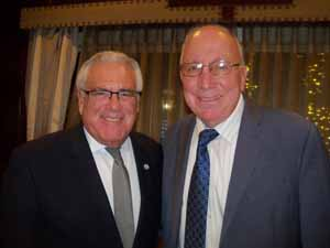 Sea Cliff Mayor and NCVOA 2nd Vice President Ed Lieberman and Hempstead Mayor Don Ryan