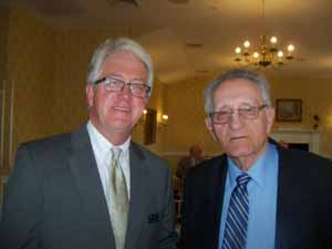 Shawn Cullinane, an executive with Friends of the NCVOA member NYCLASS, and NCVOA Executive Director Emeritus Warren Tackenberg
